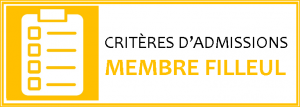 Dessin jaune avec l'inscription Critères d'admission membre filleul